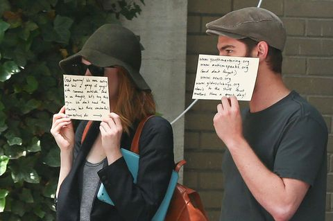 <p>Formula: Take one or more famous people. Add some self-awareness, cardboard, and the knowledge that there will be cameras waiting for them when they go outside. Combine. (Example: Emma Stone and Andrew Garfield.)</p>