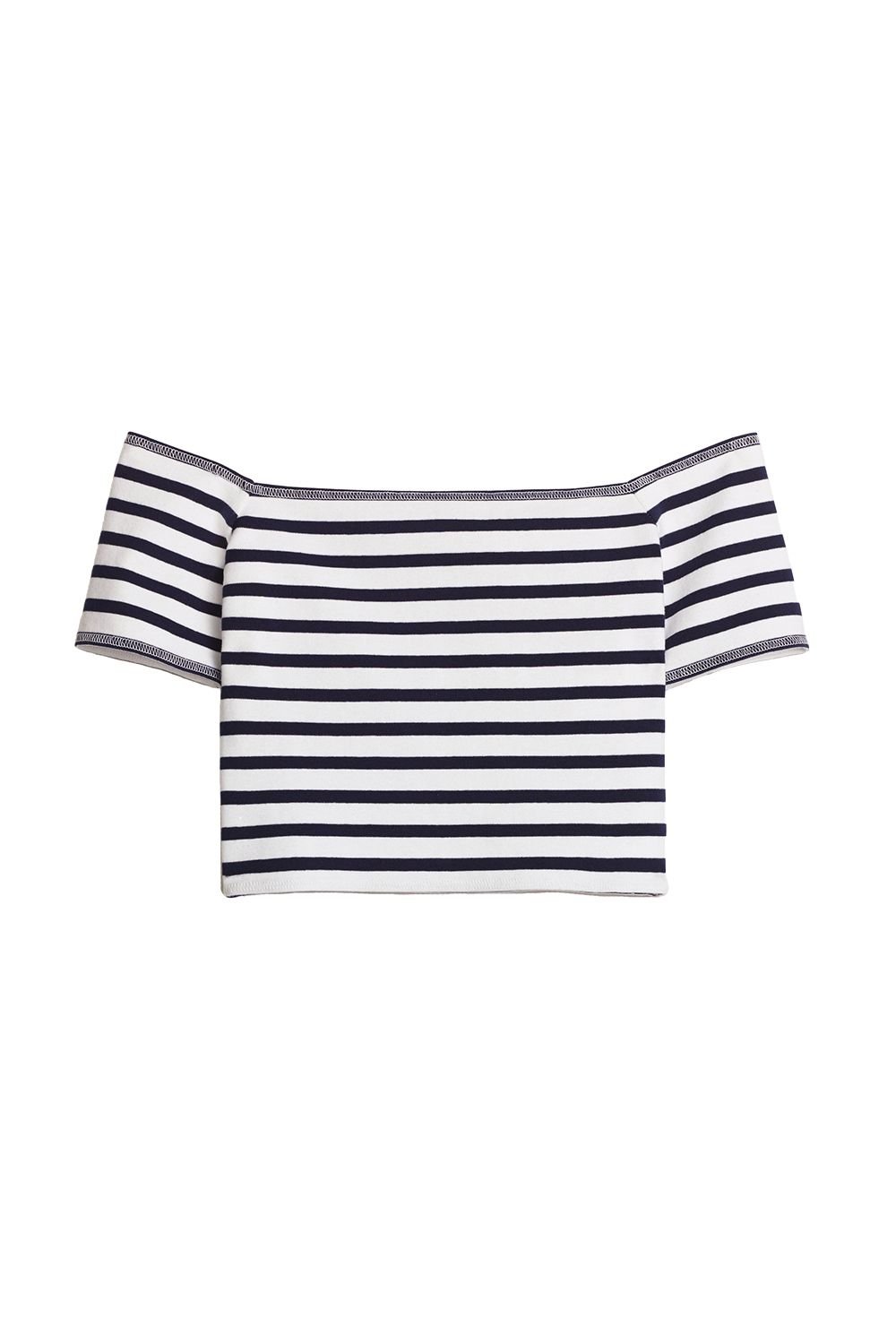 """<p>The whole shirt is stretchy, so there's no need for an elastic band just at the top to hold things up. </p><p>$23, <a href=""""http://us.aritzia.com/product/bayne-t-shirt/59400.html?dwvar_59400_color=11251"""" target=""""_blank"""">aritzia.com</a>.</p>"""