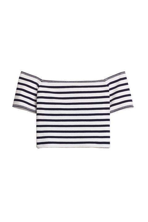 "<p>The whole shirt is stretchy, so there's no need for an elastic band just at the top to hold things up. </p><p>$23, <a href=""http://us.aritzia.com/product/bayne-t-shirt/59400.html?dwvar_59400_color=11251"" target=""_blank"">aritzia.com</a>.</p>"
