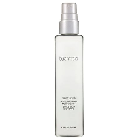 "<p>Quench your skin's thirst with this fragrance-free water mist suitable for all skin types.</p><p>$38; <a href=""http://www.lauramercier.com/cleansers-and-prep/perfecting-water-moisture-mist-12601416.html"" target=""_blank"">lauramercier.com</a></p>"