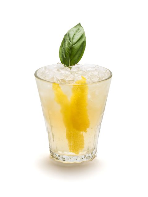 <p>A refreshing cocktail with a ginger-lemon taste. </p><p><strong>Ingredients: </strong></p><p>4 Basil Leaves </p><p>2 oz. Bourbon </p><p>6 oz. Q Ginger Beer </p><p>Lemon Twist<strong></strong> </p><p><strong>Directions: </strong> </p><p>Pour bourbon into a muddler and add 4 basil leaves. Gently muddle basil.</p>