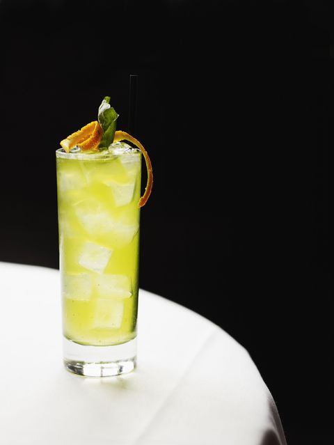 """<p>A Thai-inspired<a href=""""http://dineanddish.net/2013/04/orange-basil-mojitos-kitchenaid-blender-giveaway/"""" target=""""_blank"""">beverage</a> with a boozy kick. </p><p><strong>Ingredients: </strong></p><p>1 cup Freshly Squeezed Orange Juice</p><p><span></span>½ cup Thick Simple Syrup </p><p><span></span>10 Large Fresh Basil Leaves, stems removed and discarded</p><p><span></span>1 cup White Rum</p><p><span></span>1 cup Club Soda</p><p><span></span>Crushed Ice</p><p><span></span>Orange Slices, for garnish</p><p><span></span>Additional Basil Leaves for Garnish</p><p><strong>Directions:</strong> </p><p>In a medium pitcher, combine the orange juice, simple syrup, and basil. Use a wooden spoon or a muddler to crush the basil leaves in the bottom of the pitcher. Stir in the rum and club soda. Serve immediately in individual glasses over crushed ice. Garnish with orange slices and fresh basil.<span></span></p>"""