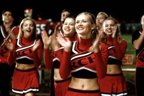 Smile, People, Cheerleading uniform, Social group, Uniform, Facial expression, Team, Abdomen, Cheering, Celebrating,