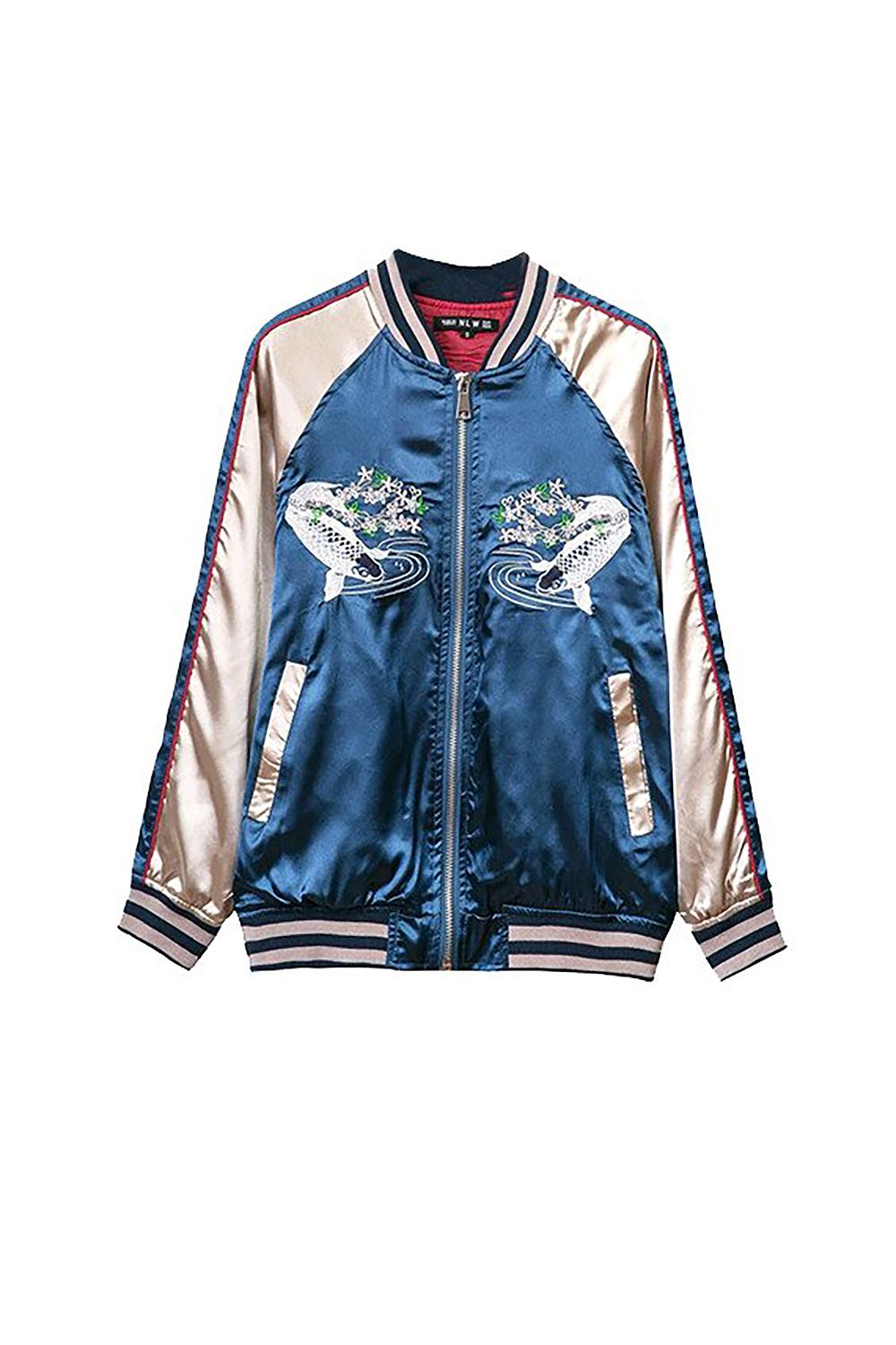 "<p>Whereas this one is so fun and Gucci (in both senses of the word), it'll also be a forever piece too. </p><p><em>$64, <a href=""http://genuine-people.com/collections/the-bomber-jacket/products/embroidered-bomber-jacket?variant=18328144133"" target=""_blank"">genuinepeople.com</a>.</em></p>"