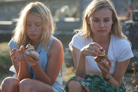 Arm, Finger, Sitting, Hand, Mammal, Summer, People in nature, Sharing, Nail, Blond,