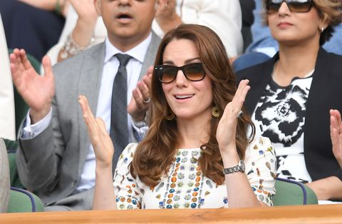 <p>Once upon a time, Kate Middleton went to Wimbledon.</p>
