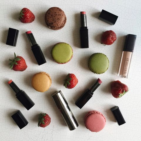 Brown, Red, Lipstick, Pink, Cosmetics, Orange, Tints and shades, Beauty, Carmine, Peach,