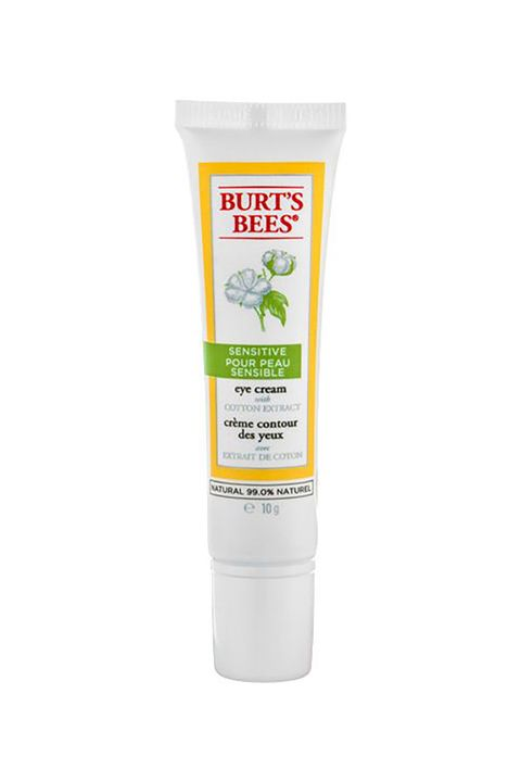 "<p>If you're in your 20s, your main objective is to hydrate the eye area to prevent lines. Beyond that, you'll want to choose a more technical (and probably therefore expensive) formula to undo any damage.</p><p><strong>Burt's Bees Sensitive Eye Cream, $9, <a href=""http://rstyle.me/~8CsMq"" target=""_blank"">amazon.com</a>.</strong></p>"