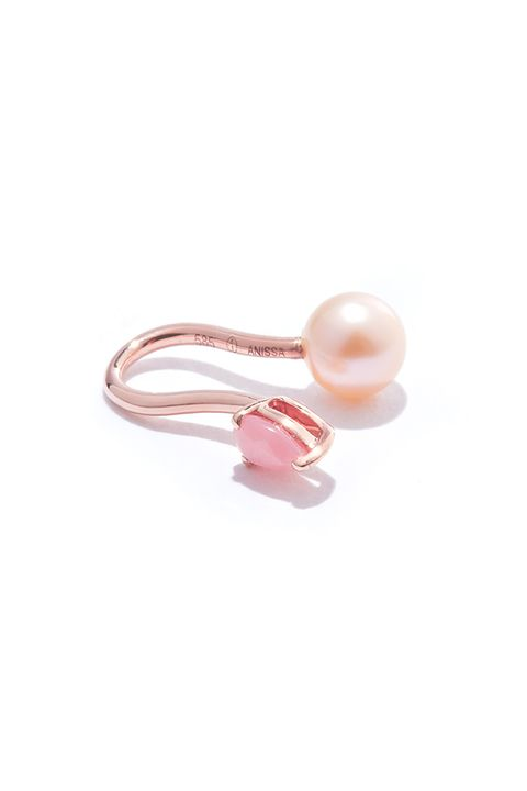 "<p>Pearls are customary, non? ;)</p><p>$310, <a href=""http://anissakermiche.com/product/perle-rare-rose-ear-cuff/"" target=""_blank"">anissakermiche.com</a>.</p>"