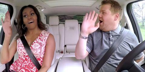Watch A Sneak Peek Of Michelle Obama On Carpool Karaoke With James