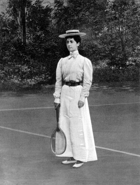 "<p>Helen Provost won the silver medal at the tennis women's singles in Paris, and in a full-length skirt, no less. Females taking part <a href=""http://visforvintage.net/2012/08/03/olympics-sportswear-a-complete-history/"" target=""_blank"">had no choice</a> but to play in ankle-length dresses with the long sleeves and high necks of the time period, plus shoes with a heel. </p>"