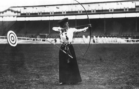 <p>The winner of the Ladies' National Round Archery at the London Olympic Games, Miss Queenie Newall. Yass queen!</p>