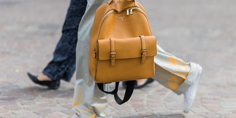 Bag, Street fashion, Yellow, Handbag, Leather, Orange, Tan, Fashion, Fashion accessory, Backpack,