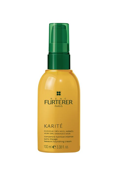 """<p>*Do* get in the shower, and when you come out, smooth on some of this heavier cream to subdue any fuzz. </p><p>René Furterer Karité Leave-In Nourishing Cream, $28, <a href=""""http://rstyle.me/n/bvvu3abqb8f"""" target=""""_blank"""">beauty.com</a>.</p>"""