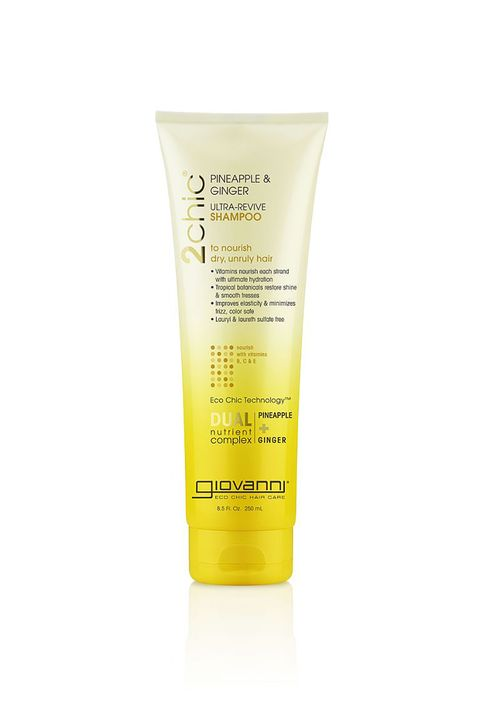 "<p>Feels like a creamy hair mask on your scalp, with all the ingredients of your favorite tropical drink. </p><p><strong></strong></p><p><strong>Giovanni Ultra-Revive Pineapple Ginger Shampoo, $9; <a href=""http://www.giovannicosmetics.com/products/item.asp?prodtype=2CHIC6&cat=2CHIC6&subcat=2CHIC6&item=2CHIC6-SHAMP-8"" target=""_blank"">giovannicosmetics.com</a>.</strong><strong></strong><br></p>"