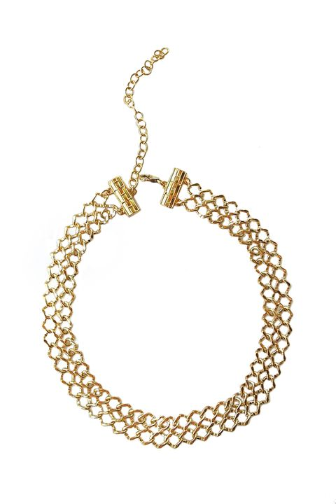"<p>Typically, we go for something a bit more original than aping celebrity style, but we'd gladly make an exception for this chain mail number, worn by everyone from Chrissy Teigen to half the Kardashians. </p><p>$99, <a href=""http://www.liliclaspe.com/collections/chokers/products/lana-choker?variant=1117059001"" target=""_blank"">liliclaspe.com</a>.</p>"