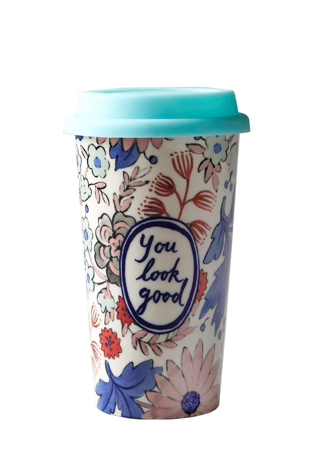 """<p>Basically the only thing we want to hear when we're bleary eyed and applying our makeup in transit. </p><p><strong>Sweet Salutation Travel Mug, $20&#x3B; <a href=""""http://www.anthropologie.com/anthro/product/home-kitchen/D37090461.jsp#/"""" target=""""_blank"""">anthropologie.com</a>. </strong></p>"""