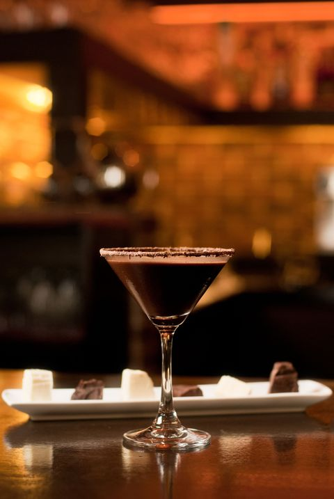 "<p>Your standard espresso martini with a <a href=""http://www.foodnetwork.com/recipes/ina-garten/espresso-martini-recipe.html"" target=""_blank"">citrusy twist</a>. </p><p><strong>Ingredients:</strong></p><p><strong></strong>2 cups Freshly Brewed Espresso, chilled</p><p><span></span>2 cups Orange-Flavored Vodka (recommended: Stoli Ohrani)</p><p><span></span>1 cup Coffee Liqueur (recommended: Kahlua)</p><p>8 slices Orange Peel, twisted<br></p><p><strong>Directions: </strong></p><p>Fill a cocktail shaker halfway with ice. Add the espresso, vodka, and coffee liqueur. Shake for 30 seconds, or until foamy. Strain into a chilled martini glass. Optional: decorate with the orange peel. Serve at once.</p>"