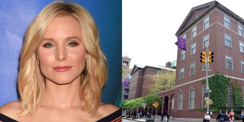 """<p><strong>New York University</strong> </p><p>Bell studied musical theater at New York University's Tisch School of the Arts and made her Broadway debut while still a student, in a musical version of <em>The Adventures of Tom Sawyer</em><em>.</em> <br> </p><p>Bell, who is an advocate on the importance of openness and acceptance when suffering from depression, first started feeling unlike herself while in college. </p><p>""""I was at New York University, I was paying my bills on time, I had friends and ambition—but for some reason, there was something intangible dragging me down,"""" <a href=""""http://motto.time.com/4352130/kristen-bell-frozen-depression-anxiety/"""" target=""""_blank"""">Bell said</a>.  """"Luckily, thanks to my mom, I knew that help was out there—and to seek it without shame.""""<br></p>"""