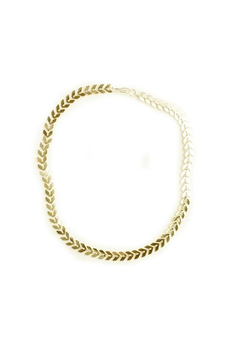 "<p>Like two necklaces and a laurel wreath all in one.</p><p>$36, <a href=""https://www.cameonouveau.com/Five-and-Two-VENUS-Choker-Necklace-Gold-p/n-fv-n015g.htm"" target=""_blank"">cameonouveau.com</a>.</p>"