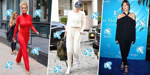 Clothing, Footwear, Leg, Shoulder, Style, Waist, Dress, Street fashion, Fashion accessory, Electric blue,