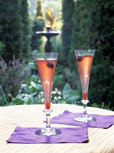 "<p>The ultimate <a href=""http://www.17apart.com/2011/08/blackberry-rosemary-prosecco-cocktail.html"" target=""_blank"">holiday party</a> drink. </p><p><strong>Ingredients: </strong></p><p>2 cups Blackberries</p><p>1 1/2 Tblsp. Fresh Chopped Rosemary</p><p>1/4 cup and 2 Tblsp. sugar</p><p>2/3 cup Water </p><p>Prosecco</p><p><strong>Directions: </strong></p><p>To make the syrup, simply combine blackberries, fresh chopped rosemary, sugar, and water in a small saucepan. Simmer roughly 20 minutes (uncovered), stirring occasionally until blackberry mixture thickens and reduces.<span class=""redactor-invisible-space""> Pour blackberry mixture into fine sieve over a glass jar or bowl, no need to press down on solids. After about 5 minutes, transfer syrup to fridge and let chill thoroughly.<span class=""redactor-invisible-space""> Once chilled, the syrup can be used as a base for your cocktail. Simply spoon it into your flutes, pour in the prosecco, and garnish with reserved whole blackberries and sprigs of rosemary. </span></span><br></p>"