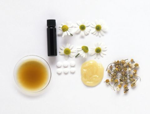"<p>Chamomile falls into two families: the German and Roman varieties. Germans <a href=""http://articles.mercola.com/herbal-oils/german-chamomile-oil.aspx"" target=""_blank"">have referred</a> to their chamomile plant as ""alles zutraut"" which means ""capable of everything."" The most common application for chamomile oil is through skincare products like toner and skin mists due to its cleansing and hydrating properties, but people have found that it <a href=""http://articles.mercola.com/herbal-oils/roman-chamomile-oil.aspx"" target=""_blank"">can provide</a> migraine relief, alleviate allergies and insomnia, soothe sunburns, and treat dental abscesses. </p>"