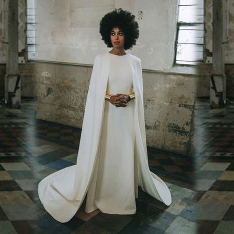 <p>GOAT (that is, Greatest of All Time) potential, mostly for her sartorial creativity. Over the course of a weekend, Knowles wore a trio of Stéphane Rolland jumpsuits—a caped one to bike to the church—and a dramatic Kenzo gown for the ceremony. </p>