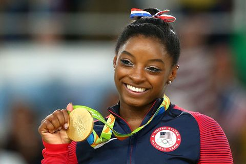 "<p>Not that anybody noticed while she was&nbsp;683 feet in the air—because&nbsp;it was like ""Wow, how??""—but Biles quietly brought&nbsp;the *editorial&nbsp;eye* to the Olympics/into homes across the world. That glitter liner is very Chanel Fall 2013, no?&nbsp;</p>"