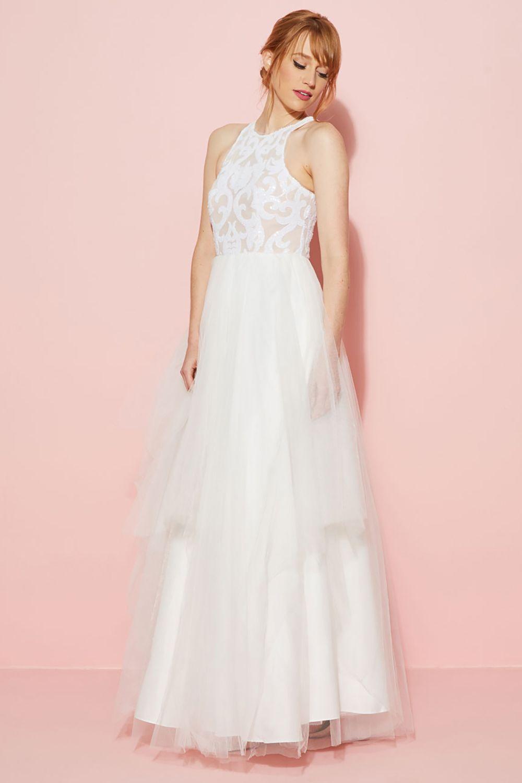 Único Wedding Dress Etsy Ideas Ornamento Elaboración Festooning ...