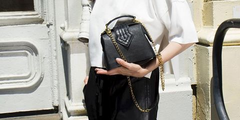 Bag, Leather, Street fashion, Luggage and bags, Shoulder bag, Strap, Chain, Belt, Buckle, Body jewelry,