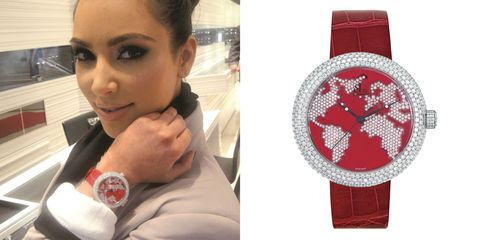 Wrist, Watch, Eyelash, Fashion accessory, Carmine, Analog watch, Nail, Symbol, Body jewelry, Eye liner,