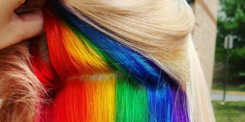 The Hidden Rainbow Hair Trend Is the Sneakiest Way to Hide a Statement Dye Job