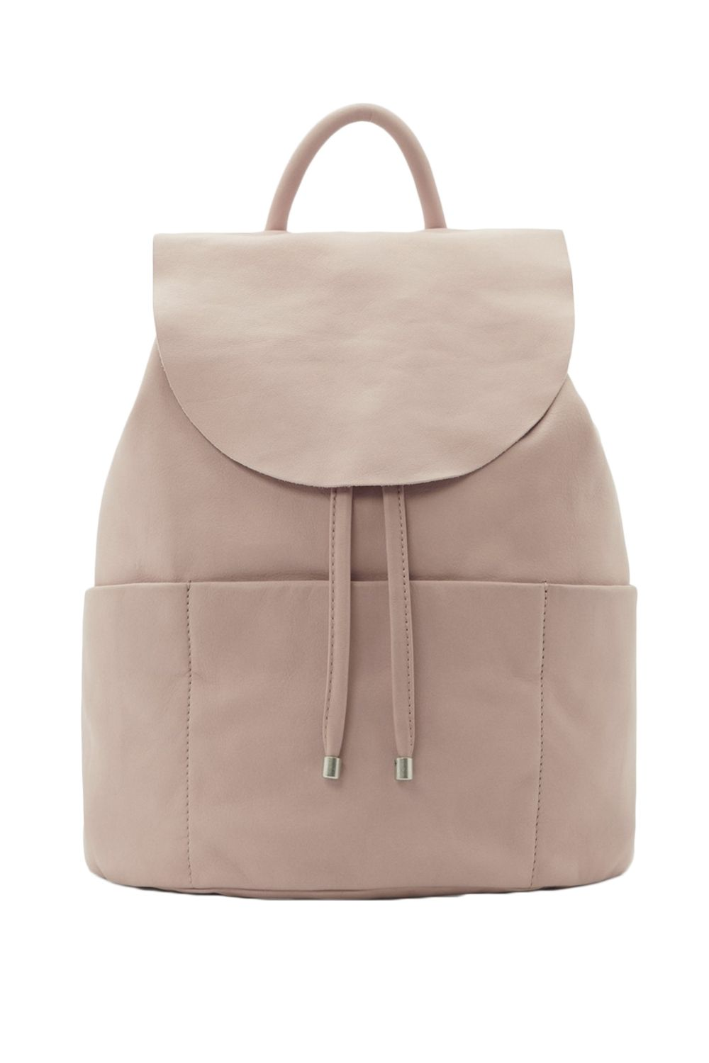 "<p>Subtle, understated, elegant—who'd have ever thought a backpack could embody all those sartorial ideals? This unstructured pale pink leather bag keeps it real with on-trend raw cut edges, a drawstring closure, and an otherwise minimalist silhouette. Wear it with jeans and a tee—the bag adds casual polish—or with a kicky dress for dining <em data-redactor-tag=""em"">al fresco</em>, as you do. <em data-redactor-tag=""em"">$190, </em><a href=""http://www.cosstores.com/us/Women/Bags_Purses/Unstructured_leather_backpack/10672447-20430739.1#20430740"" target=""_blank""><em data-redactor-tag=""em"">cosstores.com</em></a></p>"