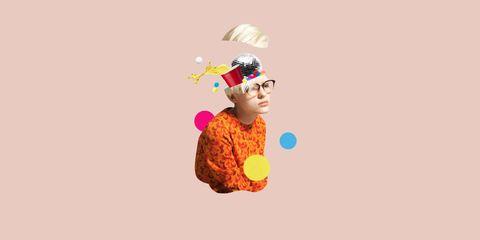 Colorfulness, Graphics, Animation, Peach, Illustration, Bonnet, Graphic design, Costume hat,