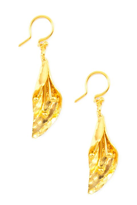"<p>Gild yourself like a Klimt.&nbsp;</p><p>$145, <a href=""https://www.chanluu.com/earrings/gold-lily-dangle-earrings/"" target=""_blank"">chanluu.com</a>.</p>"