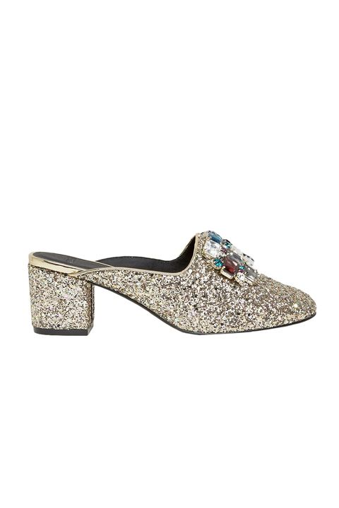 "<p>There's no such thing as too much sparkle, even though this is like Bernini would wear if he'd been around when they invented glitter.&nbsp;</p><p>$65, <a href=""http://www.asos.com/asos/asos-something-good-embellished-heels/prod/pgeproduct.aspx?iid=6928745&amp;clr=Multiglitter&amp;SearchQuery=&amp;cid=6992&amp;pgesize=36&amp;pge=0&amp;totalstyles=140&amp;gridsize=3&amp;gridrow=7&amp;gridcolumn=3"" target=""_blank"">asos.com</a>.</p>"