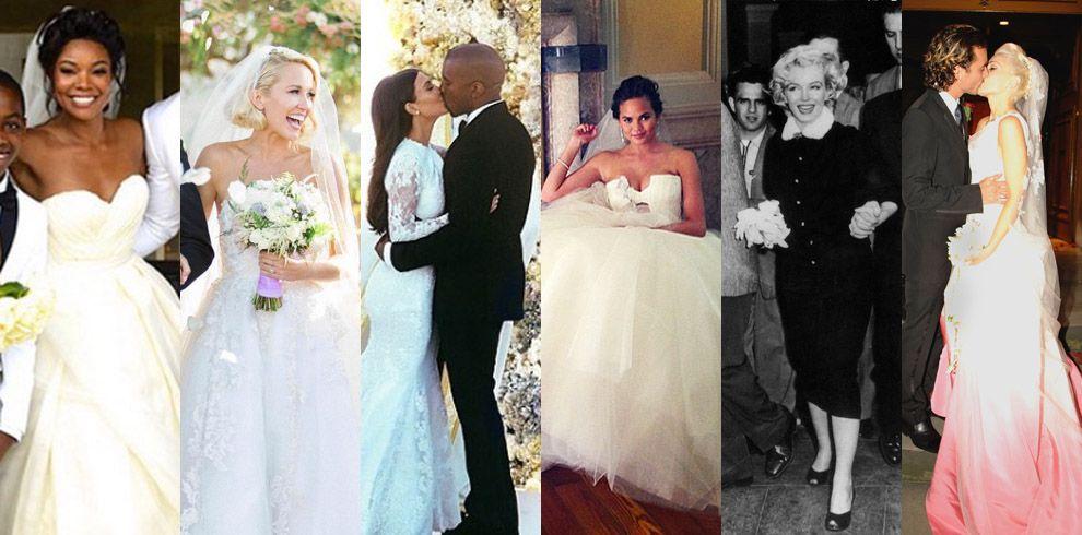 The 47 best celebrity wedding dresses wedding gown ideas from stars junglespirit Gallery