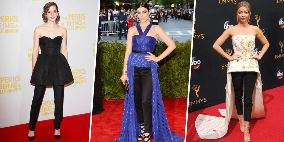 Celebrity Dress Over Pants Trend