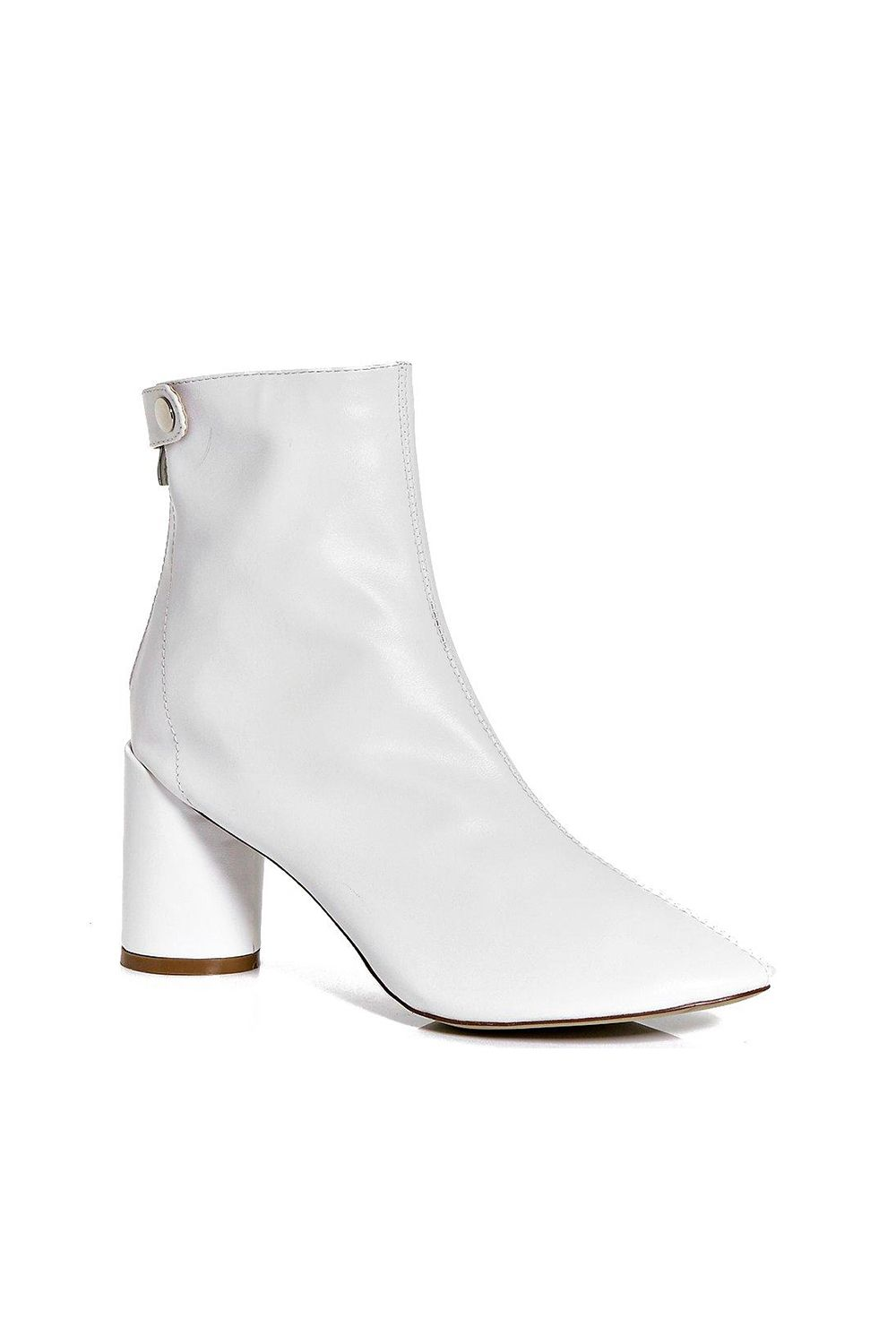 "<p>So clean...until you go outside, but that's part of the charm.&nbsp&#x3B;</p><p>$50, <a href=""http://www.boohoo.com/boots/claire-cylinder-heel-sock-boot/invt/dzz71383"" target=""_blank"">boohoo.com</a>.</p>"