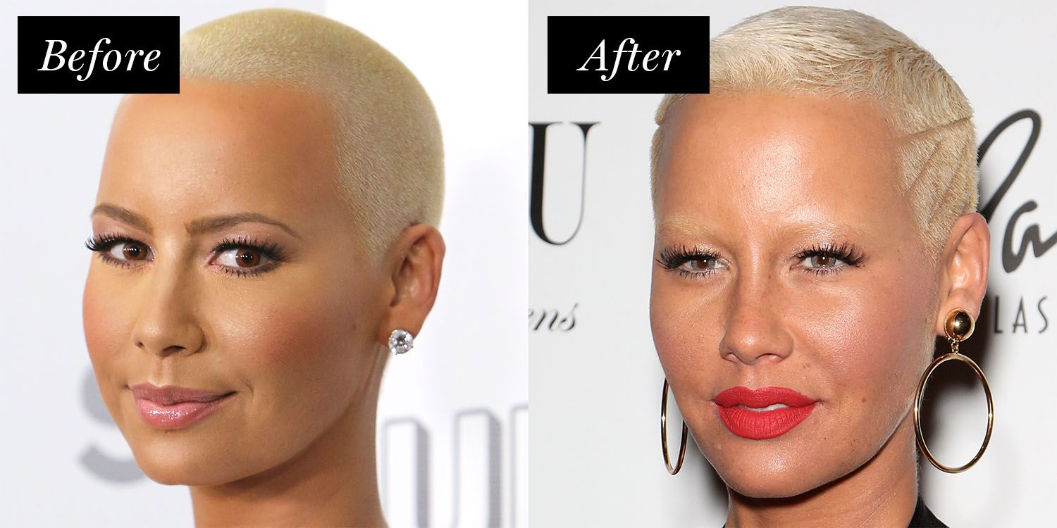 <p>Not usually one to GAF, Rose lightened her arches to match her blonde buzz cut. Just when we thought her skin couldn't get any glowier...</p>