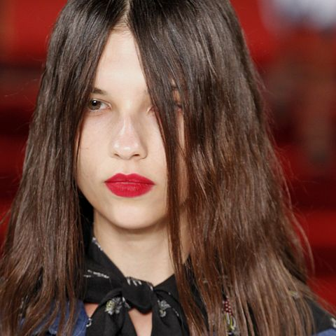 "<p>You can take your beloved matte red lip to the next level by making like makeup artist Mark Carrasquillo at Creatures of the Wind Spring 2017, who patted on a layer of hot pink blush to 1) give the lips a powdery effect and 2) provide a long-lasting finish so it doesn't move all day.<span class=""redactor-invisible-space"" data-verified=""redactor"" data-redactor-tag=""span"" data-redactor-class=""redactor-invisible-space""></span></p>"