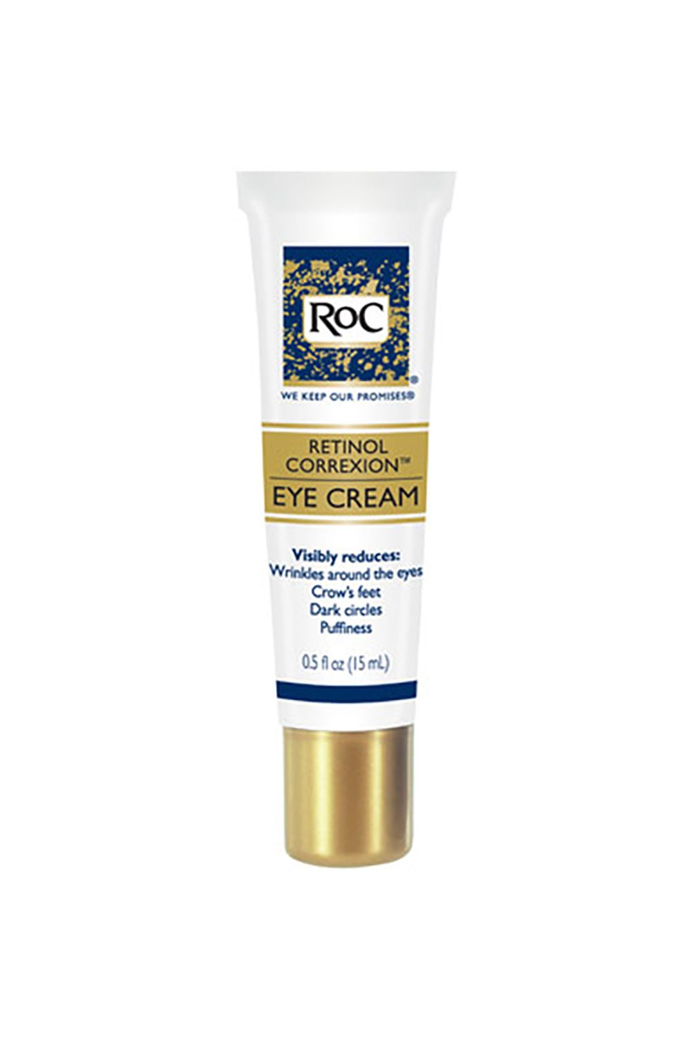 "<p>The formula? Top notch—fighting crow's feet, dark circles, and puffiness. The packaging? Even better—the hard/non-puncturable exterior is perfect for throwing in a bag, throwing in a bin...you get the gist. </p><p>ROC Eye Cream, $25; <a href=""http://www.ulta.com/eye-cream?productId=prod2112112"" target=""_blank"">Ulta.com</a></p>"