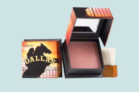 "<p>This rosy, bronzer-blush hybrid delivers on its promise of an <em data-redactor-tag=""em"" data-verified=""redactor"">outdoor glow for an indoor gal face powder</em>...we've done the legwork. Swipe it across the apples of the cheeks, chin, and forehead for a naturally&nbsp;sun-kissed look.</p><p><br></p><p>Benefit Cosmetics Dallas Box o' Powder Blush, $29; <a href=""http://bit.ly/2dPEaeF"" target=""_blank"">sephora.com</a>.</p>"