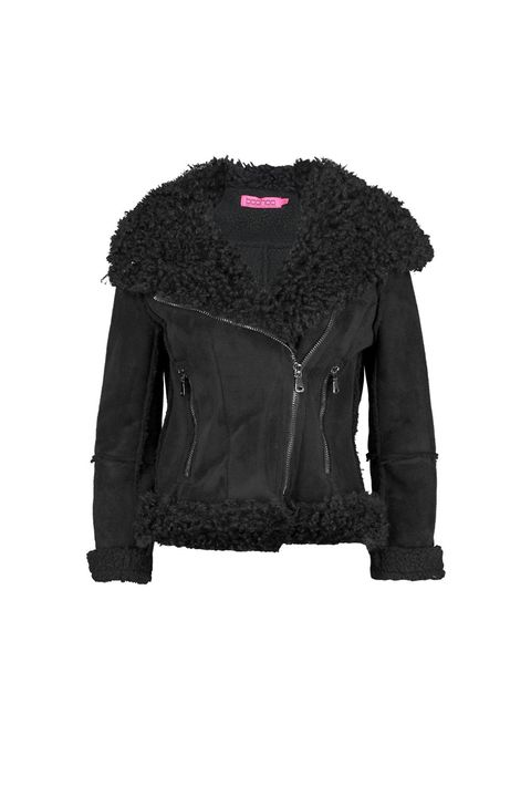 "<p>You know what they say about big collars: more fluff.&nbsp;</p><p>$105, <a href=""http://us.boohoo.com/lola-bonded-biker-with-mongolian-faux-fur/DZZ79723.html?color=105"" target=""_blank"" data-tracking-id=""recirc-text-link"">boohoo.com</a>.</p>"