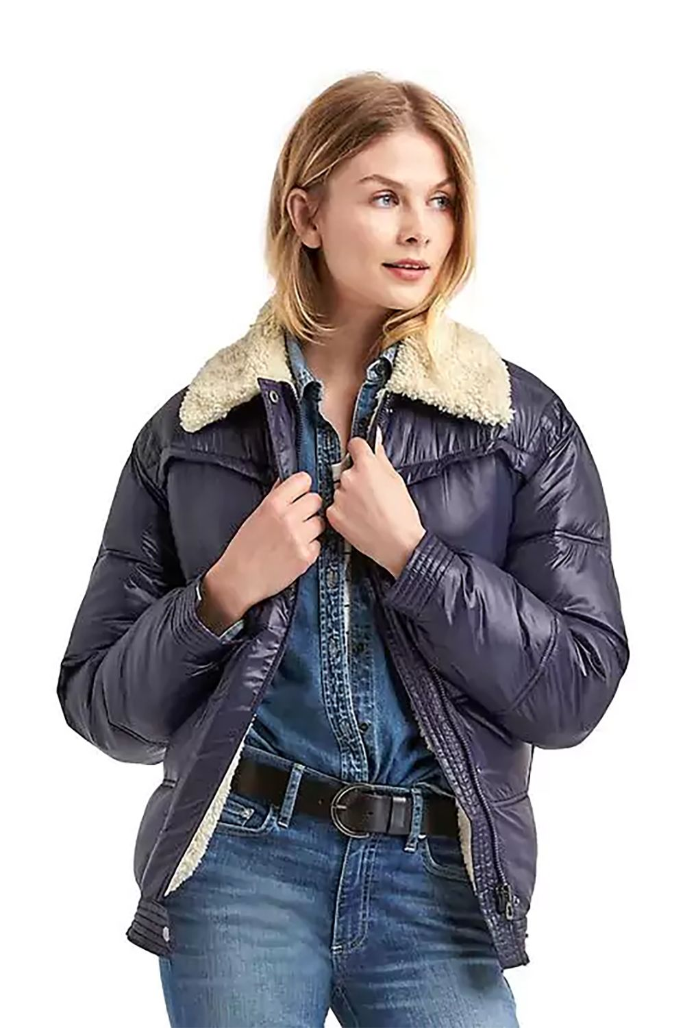 """<p>Splice together shearlingwith the *other* outerwear MVP of the season (the puffer), and you get this mutant.</p><p>$148, <a href=""""http://www.gap.com/browse/product.do?cid=5739&vid=1&pid=356803002"""" target=""""_blank"""" data-tracking-id=""""recirc-text-link"""">gap.com</a>.</p>"""