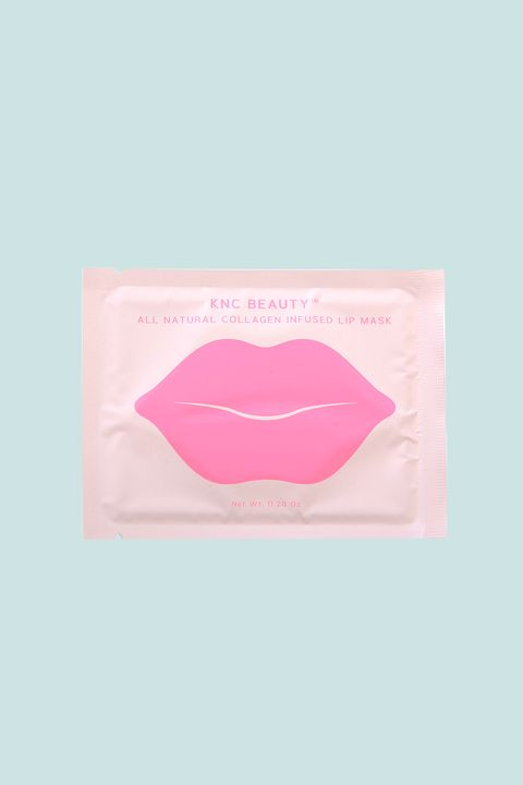 "<p>If you're a stickler for&nbsp;ingredient lists, you'll be impressed by this all-natural elixir infused with&nbsp;bitter cherry extract, rose flower oil, vitamin E, and lots o' hyaluronic acid. The first beauty offering from KNC Beauty founder&nbsp;Kristen Noel Crawley, Kim Kardashian is already a devoted fan.&nbsp;</p><p><br></p><p>KNC Beauty All Natural Collagen Infused Lip Mask (5 Pack), $24.99; <a href=""https://kncbeauty.com/products/all-natural-collagen-infused-lip-mask"" target=""_blank"" data-tracking-id=""recirc-text-link"">kncbeauty.com</a>.</p>"