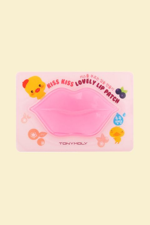 "<p>This blueberry-flavored, single-use patch is an utter delight. But don't be fooled by it's sweet fragrance&nbsp;or silly packaging, it still packs quite the punch. Smack it on for 15-20 minutes, then pat the remaining essence in for a soft, supple&nbsp;pout.</p><p><br></p><p>Tony Moly Kiss KIss Lovely Lip Patch, $4 (1 Pack); <a href=""https://www.peachandlily.com/products/tony-moly-kiss-kiss-lovely-lip-patch"" target=""_blank"" data-tracking-id=""recirc-text-link"">peachandlily.com</a>.<span class=""redactor-invisible-space"" data-verified=""redactor"" data-redactor-tag=""span"" data-redactor-class=""redactor-invisible-space""></span></p>"