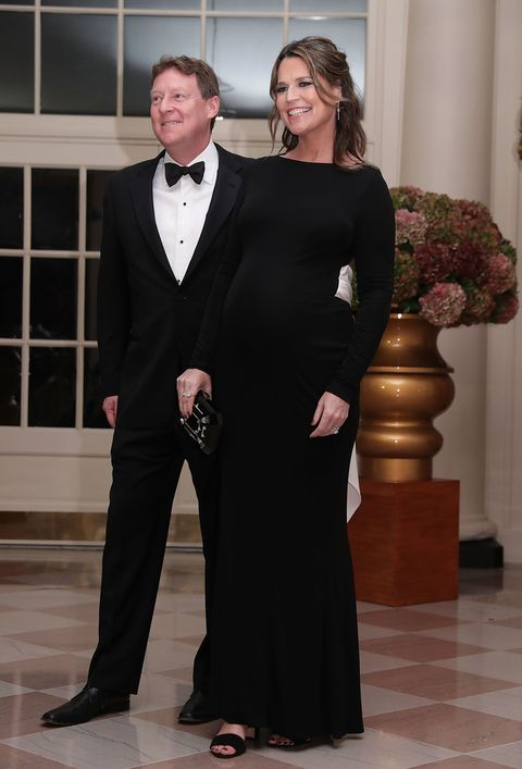WASHINGTON, DC - OCTOBER 18:  NBC's Today Show co-host Savannah Guthrie and her husband Michael Feldman arrive at the White House for a state dinner October 18, 2016 in Washington, DC. U.S. President Barack Obama is hosting a state dinner for Prime Minister of Italy Matteo Renzi and his wife Agnese Landini.  (Photo by Alex Wong/Getty Images)