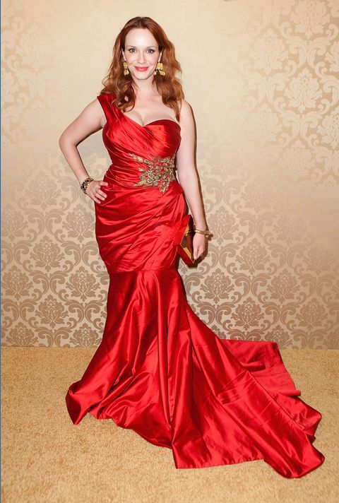 "<p>""Not one designer in town will loan me a dress,""&nbsp;<a href=""http://www.dailyrecord.co.uk/entertainment/celebrity/christina-hendricks-designers-wont-give-1068344#ljdzDSLSIDhEGuyo.97"">she told the <em data-redactor-tag=""em"">Daily Record</em></a> in 2012. ""They only lend out a size zero&nbsp;or two. So I'm still struggling for someone to give me a darn dress."" She's since worn Vivienne Westwood and Zac Posen, so you know—things can&nbsp;work out even if the game is&nbsp;rigged.&nbsp;</p>"